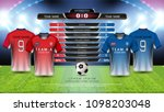 football cup or world... | Shutterstock .eps vector #1098203048