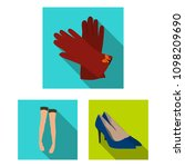 women clothing flat icons in...   Shutterstock .eps vector #1098209690