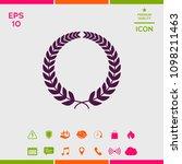laurel wreath for yor design | Shutterstock .eps vector #1098211463