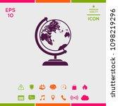 globe symbol icon | Shutterstock .eps vector #1098219296