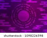 dark purple vector doodle... | Shutterstock .eps vector #1098226598