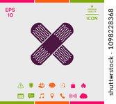 cross adhesive bandage  medical ... | Shutterstock .eps vector #1098228368