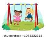 vector illustration of cute... | Shutterstock .eps vector #1098232316