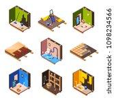 vector isometric home interior... | Shutterstock .eps vector #1098234566