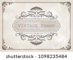 decorative frame in vintage... | Shutterstock .eps vector #1098235484