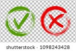 acceptance and rejection symbol ... | Shutterstock .eps vector #1098243428