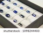 a lot of blue sapphire set of... | Shutterstock . vector #1098244403