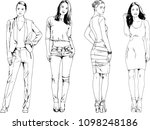 vector drawings on the theme of ... | Shutterstock .eps vector #1098248186