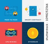 cryptocurrency mining set.... | Shutterstock .eps vector #1098252566