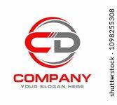 letter cd logo design vector | Shutterstock .eps vector #1098255308
