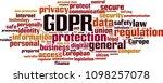 gdpr word cloud concept. vector ... | Shutterstock .eps vector #1098257078