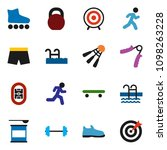 solid vector icon set   barbell ... | Shutterstock .eps vector #1098263228