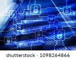 blochain information encryption.... | Shutterstock . vector #1098264866