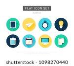 business flat vector icon set | Shutterstock .eps vector #1098270440