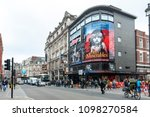Small photo of London, UK - April 2018: Queens Theatre, West End theatre located in Shaftesbury Avenue in City of Westminster performing several notable productions since 1907 including the current Les Misérables