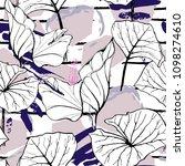 tropical  modern stripes motif. ... | Shutterstock .eps vector #1098274610