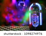 Jukebox In Bar With Disco Ball...