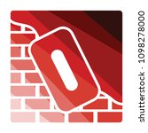 icon of plastered brick wall .... | Shutterstock .eps vector #1098278000