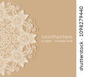 invitation or card template...   Shutterstock .eps vector #1098279440