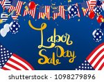 vector labor day greeting or... | Shutterstock .eps vector #1098279896