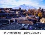 rooftops in lijiang old town... | Shutterstock . vector #1098285359
