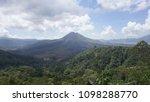 an active volcano  kintamani in ... | Shutterstock . vector #1098288770