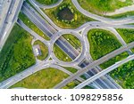 aerial view of highway road... | Shutterstock . vector #1098295856