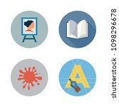 icons paint accessory with open ... | Shutterstock .eps vector #1098296678