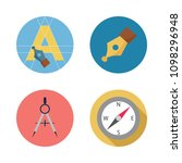 icons paint accessory with text ... | Shutterstock .eps vector #1098296948