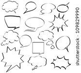 comic speech bubbles | Shutterstock .eps vector #109829990