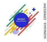 abstract modern vintage retro... | Shutterstock .eps vector #1098301544