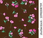 seamless ditsy pattern in small ... | Shutterstock .eps vector #1098308759