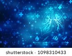 human lungs on scientific...   Shutterstock . vector #1098310433