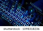 closeup of a keyboard in... | Shutterstock . vector #1098318236