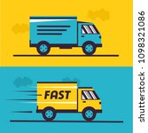 delivery service. illustration... | Shutterstock .eps vector #1098321086