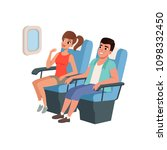 young tourist couple sitting in ...   Shutterstock .eps vector #1098332450