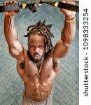 handsome  young  muscular... | Shutterstock . vector #1098333254