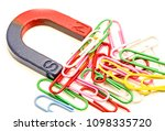 horseshoe magnet attracting... | Shutterstock . vector #1098335720