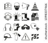 safety work  security symbols.... | Shutterstock . vector #1098337466