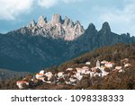 bavella mountains and zonza... | Shutterstock . vector #1098338333