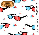 3d glasses pattern with... | Shutterstock .eps vector #1098338519