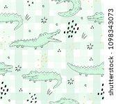 cute hand drawn seamless...   Shutterstock .eps vector #1098343073
