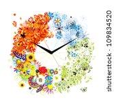 Design Of Clock. Four Seasons ...