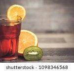 summer holiday cocktail glass | Shutterstock . vector #1098346568