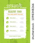 organic paleo rough food menu... | Shutterstock .eps vector #1098348266