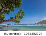 beautiful sand in palm beach  ... | Shutterstock . vector #1098352724