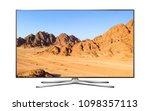 smart tv with mountain landscape | Shutterstock . vector #1098357113
