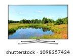 smart tv with nature wallpaper   Shutterstock . vector #1098357434