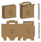 package box die cut with 3d...   Shutterstock .eps vector #1098368339
