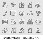 line icons set for investment ... | Shutterstock .eps vector #1098369773